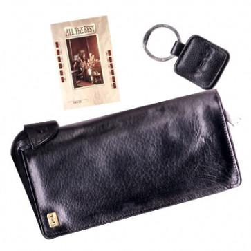 Leather Cheque Holder