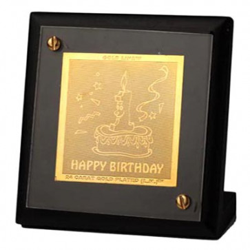 Pure Gold Happy Birthday Stand