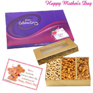 Dryfruit with Celebrations - Celebrations, Assorted Dryfruits 200 gms and Card