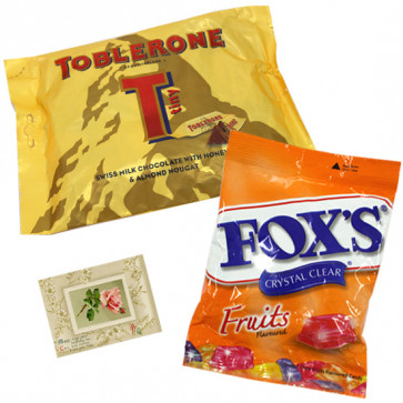Choco Assortment - Mini Toblerone + Fox's Crystal Clear Fruits Candies