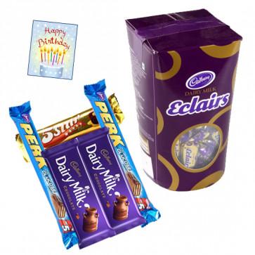 Cadbury Hamper - Cadbury Eclairs + 5 Assorted Bars & Card