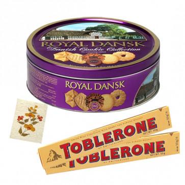 Choco Hamper - Danish Butter Cookies + 2 Toblerone