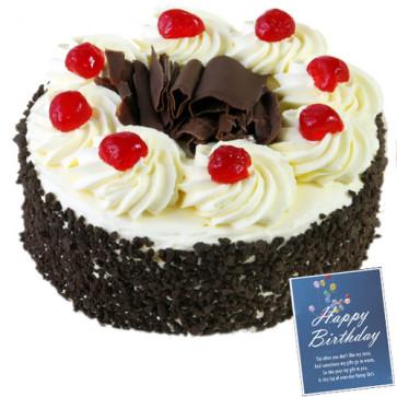 Black Forest Cake 1 Kg + Card