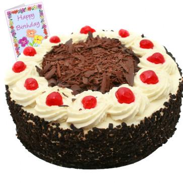 Black Forest Cake 2 Kg + Card