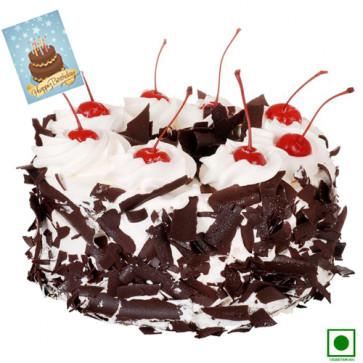 Black Forest (Eggless) 1 Kg + Card