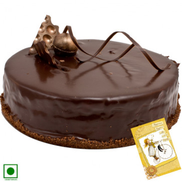 Chocolaty Treat (Eggless) 2 Kg + Card