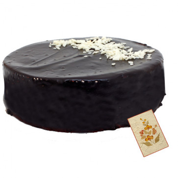 Five Star Bakery - Sinful Chocolate Truffle 1 Kg + Card
