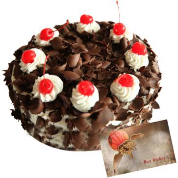 Black Forest Cake 1/2kg + Card