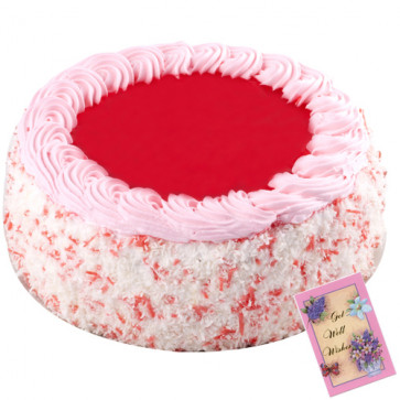 Strawberry Cake 2 Kg + Card