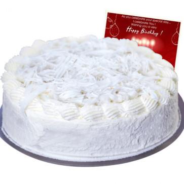 Vanilla Cake 1 Kg + Card