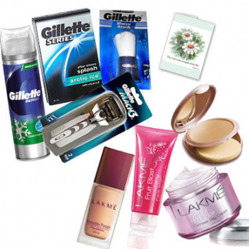 Couple Delight - Gillette Shaving Kit and Lakme Total Care