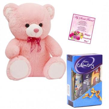 Celebration with Teddy - Teddy 8 inch, Mini Celebrations & Card