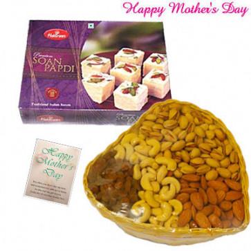 DryFruit Papdi - Assorted Dryfruits 200 gms, Haldiram Soan Papdi and Card