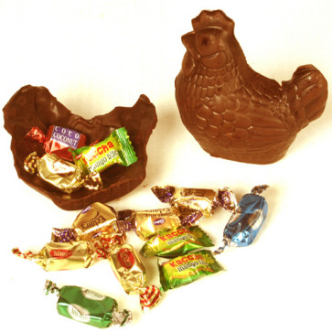 Chocolate Hen Filled with Goodies