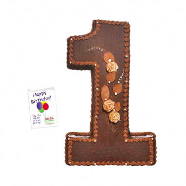 Number Cake 2 Kg + Card