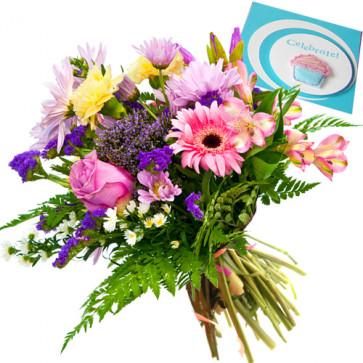 Delicate Love - 12 Mix Roses & 12 Gerberas + Card