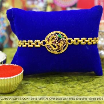 Om Gold Plated Rakhi