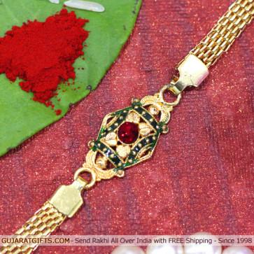 Awesome Gold Plated Rakhi