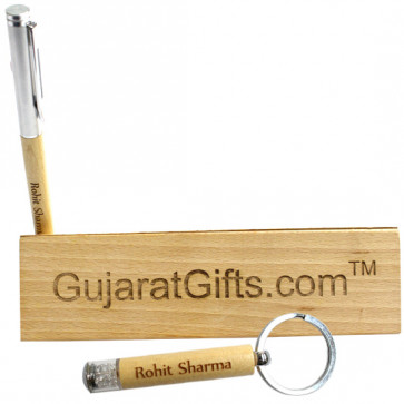 Personalized Pen Stand cum Pen Case with Keychain & Card