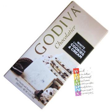 Godiva Chocolatier - White Chocolates Cookies & Cream 100 gms