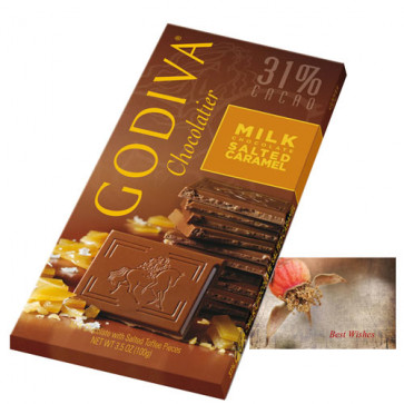Godiva Chocolatier - Milk Chocolate Salted Caramed 100 gms