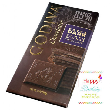 Godiva Chocolatier - Extra Dark Santo Domingo Chocolate 100 gms
