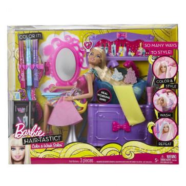 Barbie Hairtastic Colour N' Wash Salon