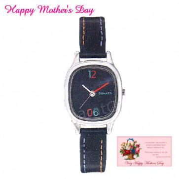 Sonata Watch Black Dial