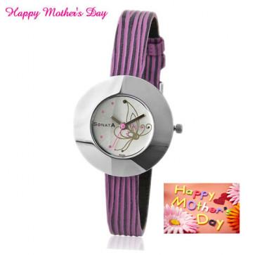 Sonata Analog Multi-Color Watch