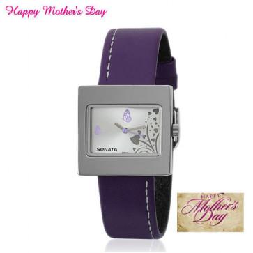 Sonata Analog Purple Watch