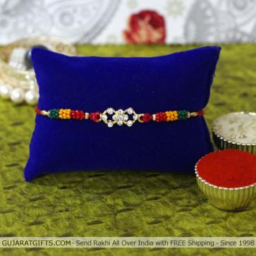 Beads & Diamond Mauli Rakhi