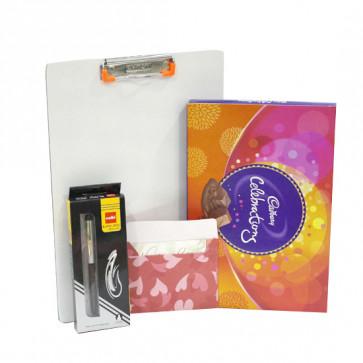 Sweet & Lucky - Clip Board, Cadbury Celebration, Cello Pen and Card