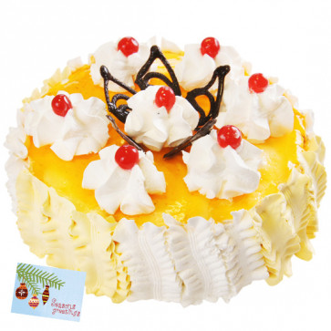 Pineapple Cake 2 kg & Card
