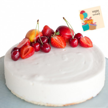 2 Kg White Forest Cake & Card