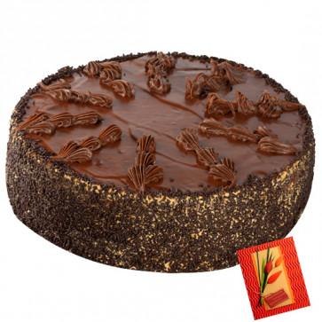 2 Kg Chocolate Cake & Card