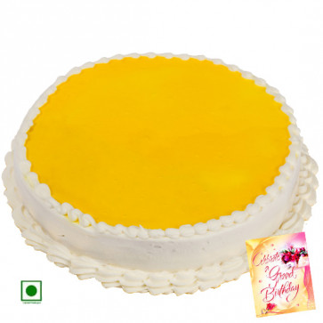 1.5 Kg Pineapple Cake (Eggless) & Card