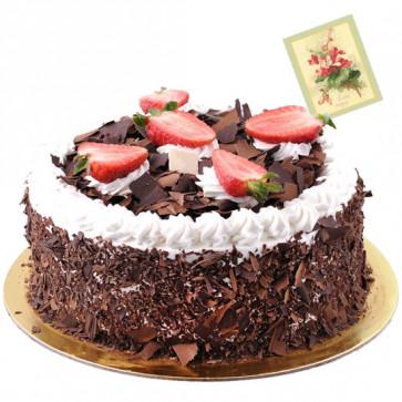 Five Star Bakery - 2 Kg Blackforest Cake & Card