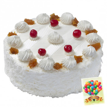 Five Star Bakery - 1.5 Kg Pineapple Cake & Card