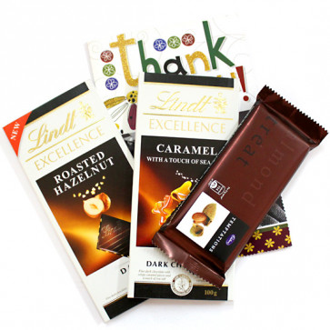 Tempting Lindts - 2 Lindt Excellence Chocolates, Temptations and Card