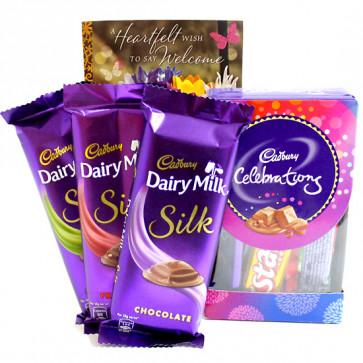 Mini Silky - Mini Celebrations, 3 Dairy Milk Silk and Card