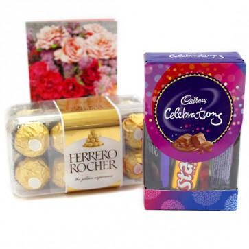 Mini Ferrero - Mini Celebrations, Ferrero Rocher 16 Pcs and Card
