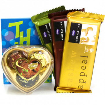 Three More - Only's Chocolates 3 Pcs, 3 Temptations and Card