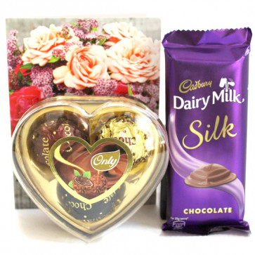 Only Silk - Only's Chocolates 3 Pcs, Dairy Milk Silk and Card