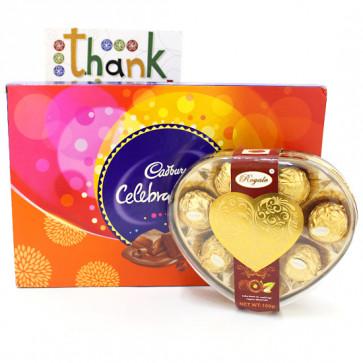 Big Royale - Royale Chocolates 8 Pcs, Cadbury Celebrations and Card