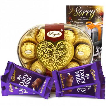 Royale Love - Royale Chocolates 8 Pcs, 4 Dairy Mlik and Card