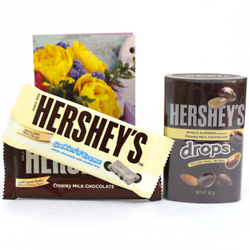 Hershey's for You - Hershey's Creamy Milk Chocolate 35 gms, Hershey's Cookies and Cream 35 gms, Hershey's Drop 60 gms and Card