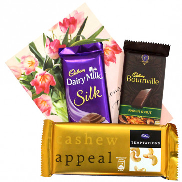 Dark Tempting Silk - Bournville, Temptations, Dairy Milk Silk and Card