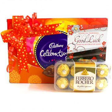 Rochery Celebration - Cadbury Celebrations, Ferrero Rocher 16 Pcs and Card