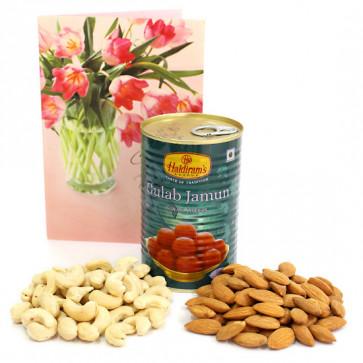 Jamuny Nut - Almonds and Cashews, Gulab Jamun Tin 500 gms
