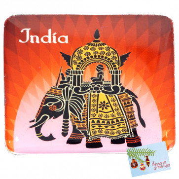 Ethnic Elephant Printed Fridge Magnet